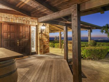 The Homestead Event and Wedding Venue, Eagle Ridge Country Estate, brick and wood deck