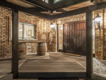 The Homestead Event and Wedding Venue, Eagle Ridge Country Estate, Brick walls and wooden doors