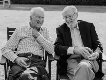 The Homestead Event and Wedding Venue, Eagle Ridge Country Estate, two old men talking