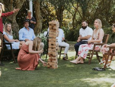 The Homestead Event and Wedding Venue, Eagle Ridge Country Estate, group of people playing jenga